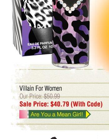 Villian $40.79 with Code!