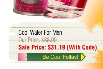 Davidoff Cool Water $31.19 with Code!