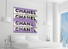 Fluorescent Palace: Fashion-Forward Wall Art