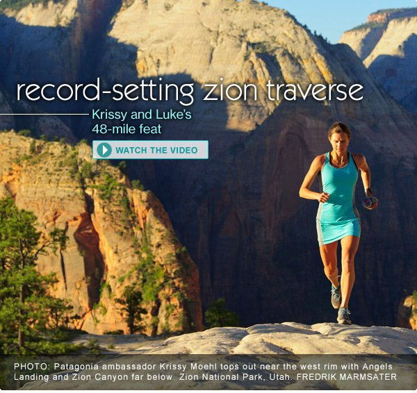 Record-Setting Zion Traverse Luke and Krissy's 48-mile feat. Watch the video