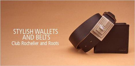 Stylish Wallets and Belts