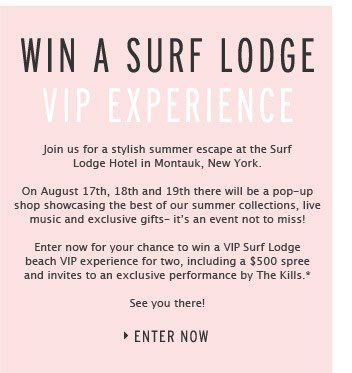 WIN A SURF LODGE VIP EXPERIENCE