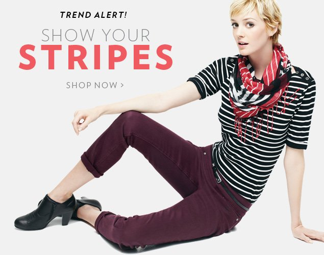 Trend alert! Show your stripes
