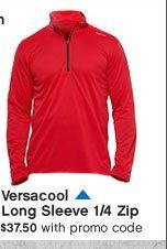 Versacool Long Sleeve 1/4 Zip $37.50 with promo code