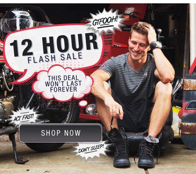 12 Hour Flash Sale