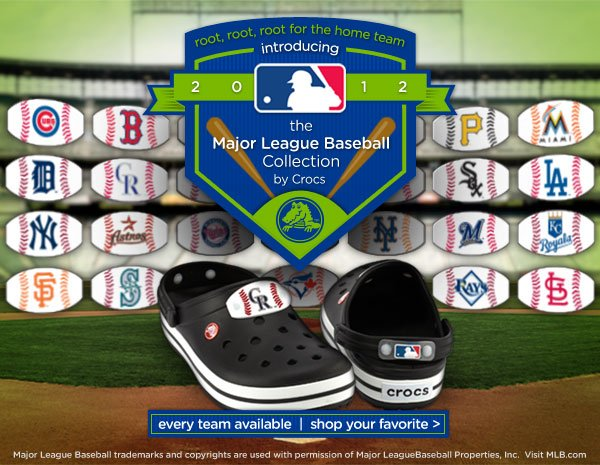 introducing the Major League Baseball Collection by Crocs - every team available - shop your favorite