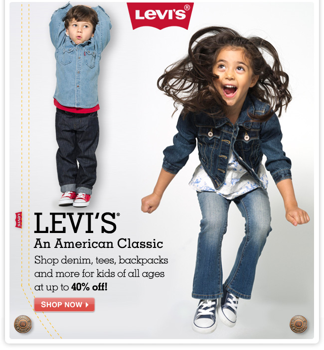 LEVI'S An American Classic - Shop denim, tees, backpacks and more for kids of all ages at up to 40% OFF!