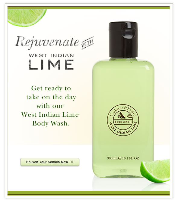 Rejuvenate with West Indian Lime.