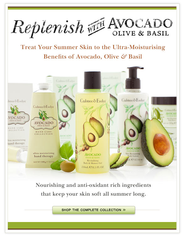 Treat Your Summer Skin to the Ultra-Moisturising Benefits of Avocado, Olive & Basil.