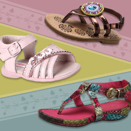 Strappy Strides: Girls' Sandals