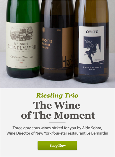 Riesling Trio: The Wine of the Moment  - Shop Now