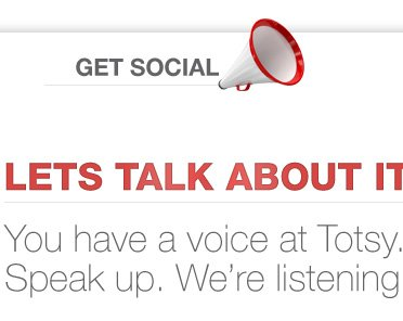 LETS TALK ABOUT IT - You have a voice at Totsy. Speak up. We're listening!