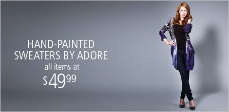 Handpainted Sweaters by Adore