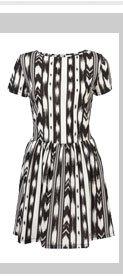 Ikat Print Tee Dress