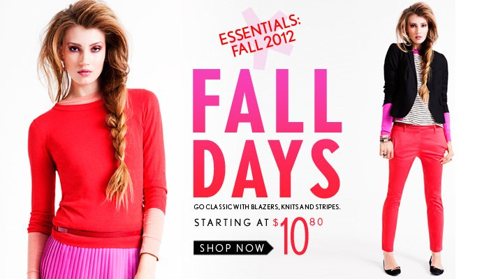 Fall Essentials: Fall Days Starting at $10.80 - Shop Now