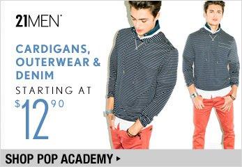 21MEN: Cardigans, Outerwewar & Denim Starting at $12.90 - Shop Now