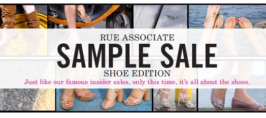 Rue Associate Sample Sale: Shoe Edition Boutique