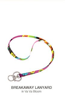 Breakaway Lanyard in Va Va Bloom