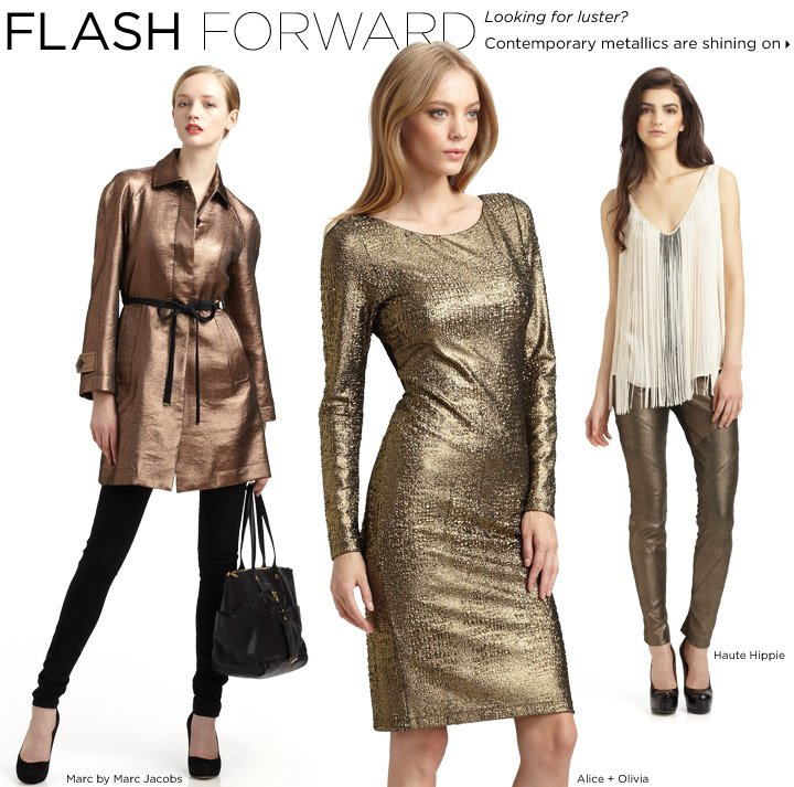 Contemporary metallics are shining on