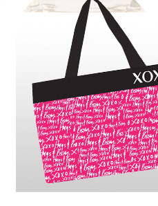 FREE GIFT with purchases of $75 or more. XOXO Tote Bag $25 Value