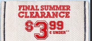 Final Summer Clearance