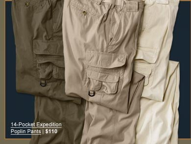 14-Pocket Expecition Poplin Pants | $110