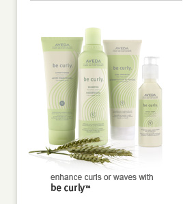 Enhance curls or waves with be curly(TM)