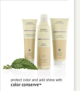 Protect color and add shine with color conserve(TM)