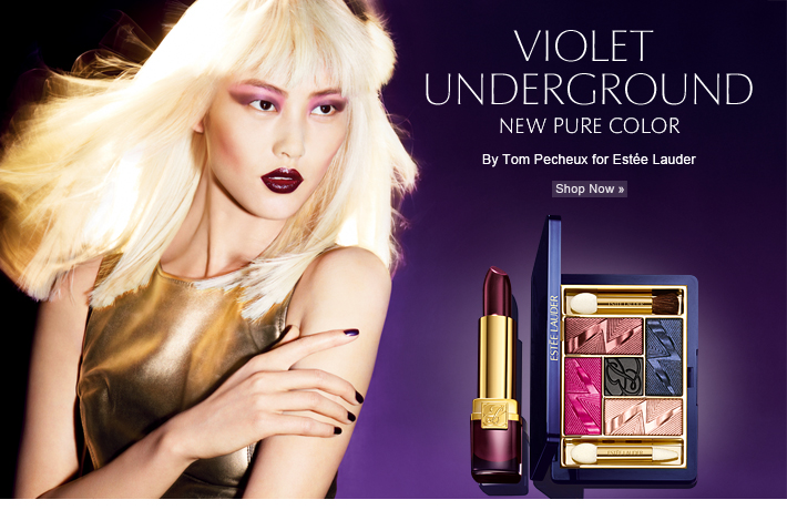 VIOLET UNDERGROUND NEW PURE COLOR  By Tom Pecheux for Estée Lauder Get the Look »