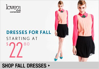 Love21 - Dresses for Fall Starting at $22.80 - Shop Now