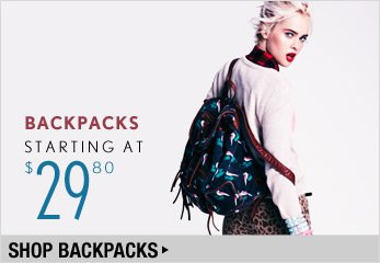 Backpacks Starting at $29.80 - Shop Now