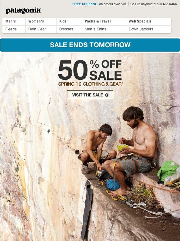 Patagonia prefers to to offer clear and transparent ways to save money on orders. Free Shipping. If your order meets or exceeds the amount advertised on the website, you qualify for free ground shipping.