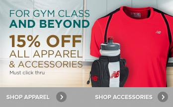 15% Off Apparel and Accessories