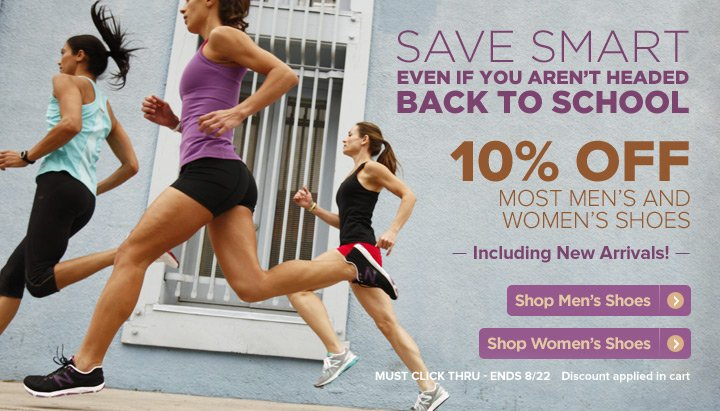 10% Off Men's and Women's Shoes