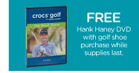 FREE Hank Haney DVD with golf shoe purchase while supplies last.