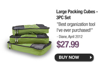 Large Packing Cubes - 3PC Set - Buy Now