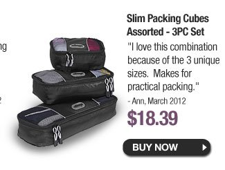 Slim Packing Cubes Assorted - 3PC Set - Buy Now