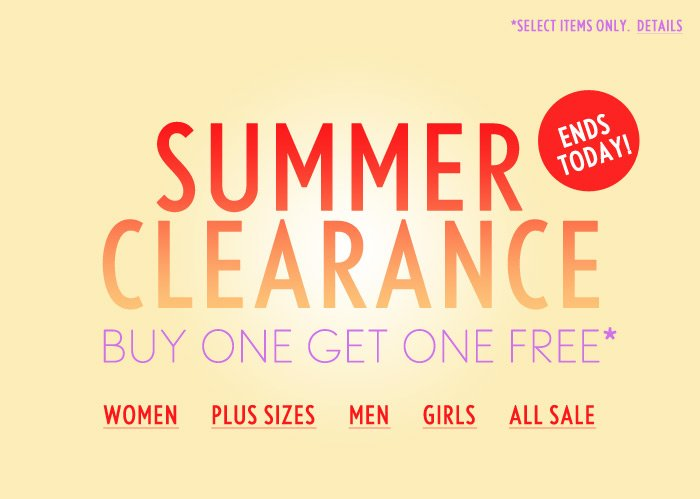 Ends Today - Last Chance to Buy One Get One Free! - Shop Now