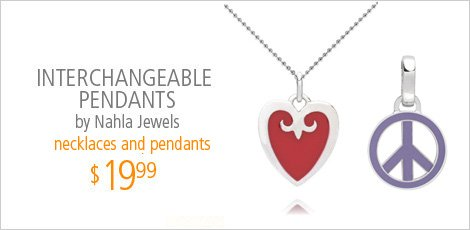 Interchangeable Pendants by Nahla Jewels