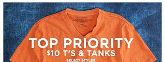 Top Priority | $10 T's & Tanks | Select Styles