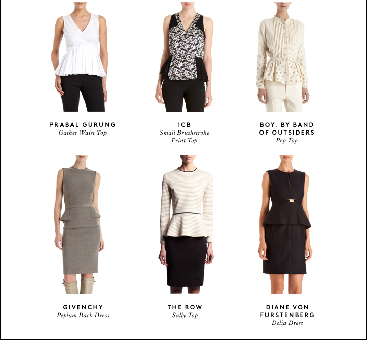 PEPLUMS TREND GUIDE: A FLARE FOR 