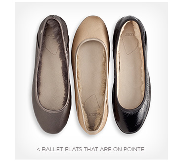 Ballet flats that are on pointe