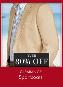 OVER 80% OFF Clearance Sportcoats
