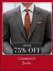 OVER 75% OFF Clearance Suits