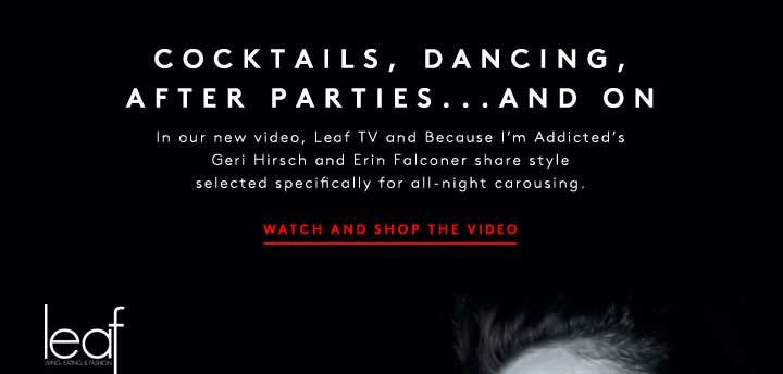 COCKTAILS, DANCING, AFTER 