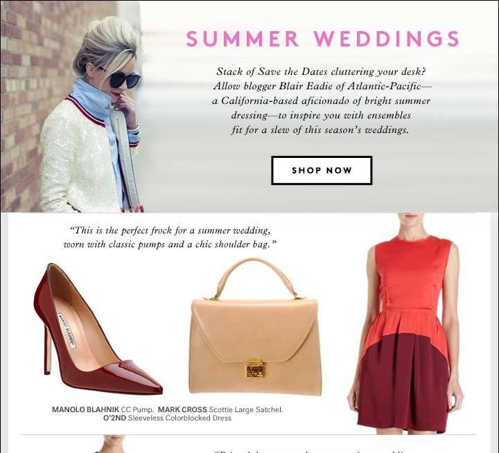 SUMMER WEDDINGS: SAVE THE DATES 
