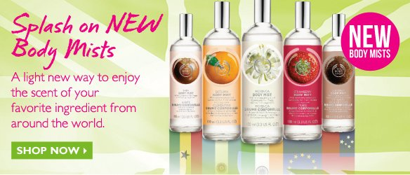 Splash on NEW Body Mists -- Shop Now