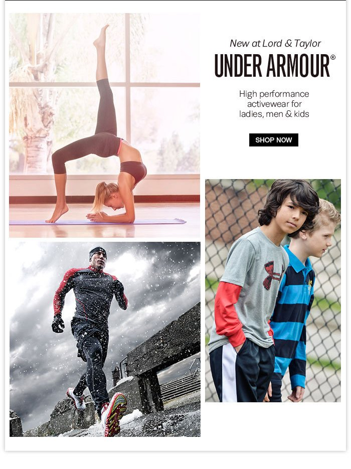 New at Lord & Taylor: Under Armour