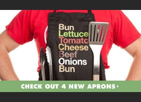 Check out 4 new aprons
