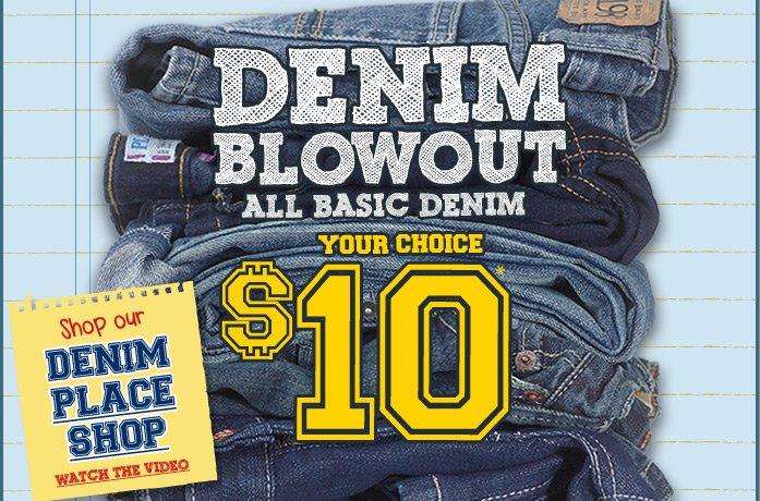 Denim $10 and Up